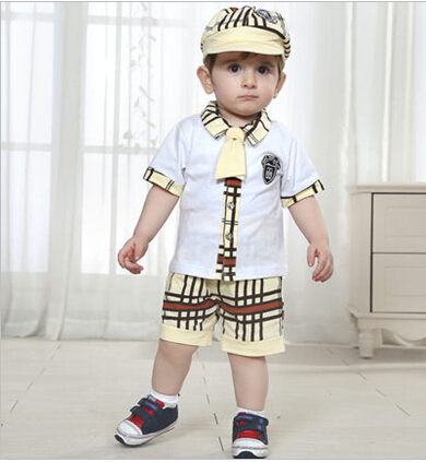 cea7d20404c7 Free Shipping The gentleman male baby summer clothes in summer small ...