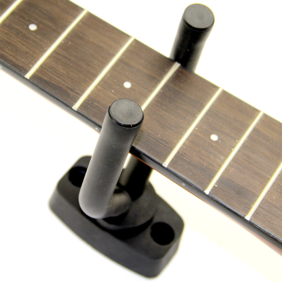 BATESMUSIC Guitar Neck Support for All Guitar Bass Ukelele Guitar Hanger Hook Holder Wall Mount Display Fits all size image