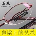 El nuevo medio de la moda gafas de montura negra marco de metal marco de anteojos mujeres gafas de prescripción H6259 gafas de marco claros