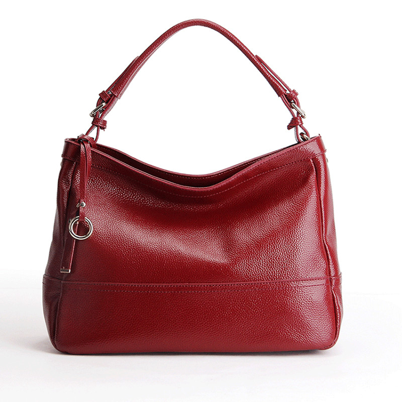 100% Genuine leather women handbag casual totes ladies shoulder bag design zipper hobos women bag messenger bags bolsa feminina genuine leather handbag 2018 new shengdilu brand intellectual beauty women shoulder messenger bag bolsa feminina free shipping