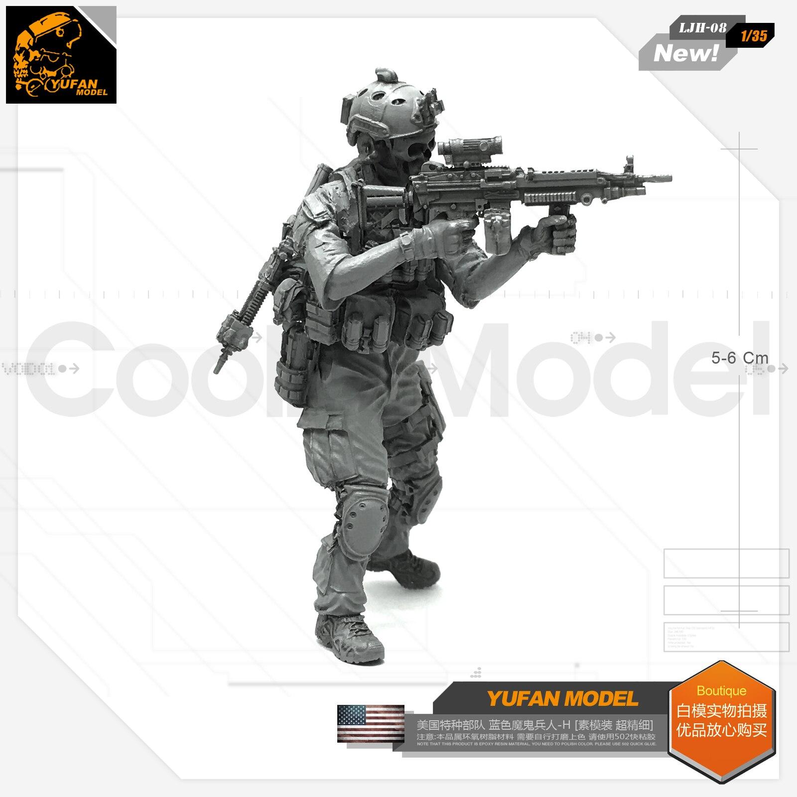 Yufan Model 1/35 Resin Figure Blue Devil Soldier-h Resin Model Ljh-08 For Us Special Forces  LJH-08