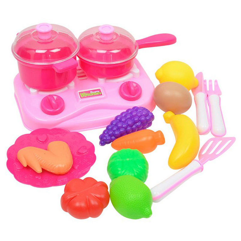New presents for the new year 2018 2017 Kids Pretend Role Play Kitchen Fruit Vegetable Food Toy Cutting Set Giftbaby best gif