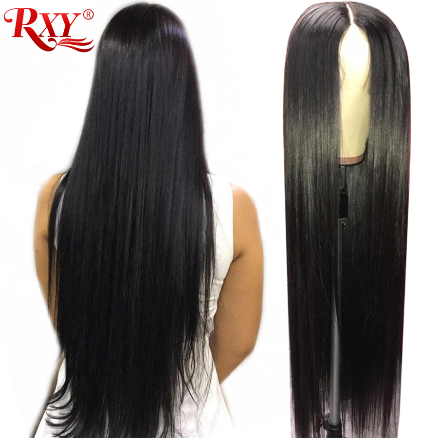 RXY 13x6 Lace Front Wig Glueless Lace Front Human Hair Wigs For Black Women Brazilian Straight