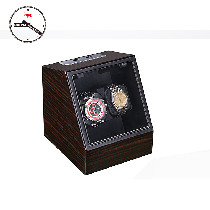 High-End  P0078-WG Wood-Grain Festivals Gift Watch box Ultra Quite Automatic Watch Winder new arrival black color carbon fibre wood watch winder german ultra quiet 5 modes watch winder