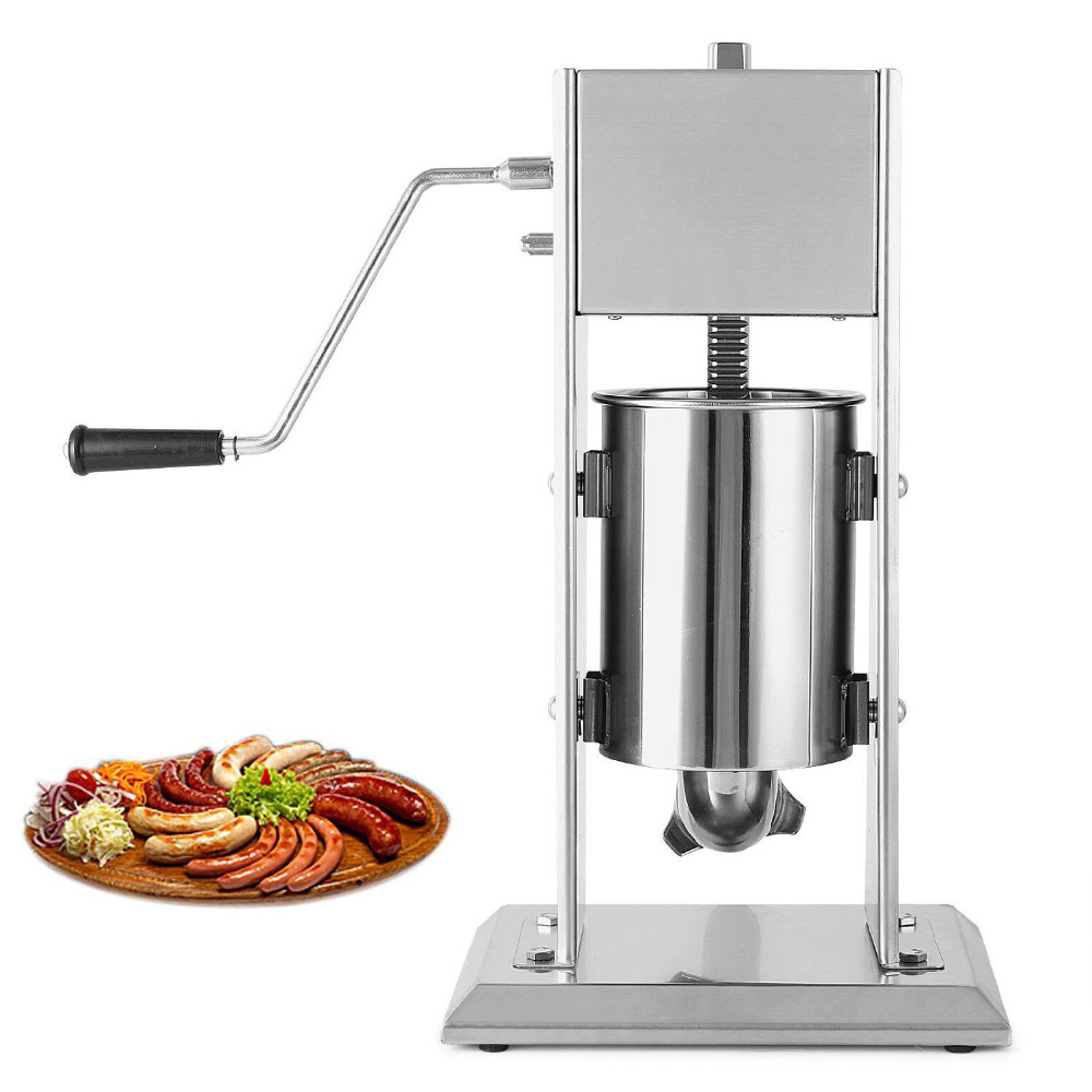 Manual Sausage Filler  Sausage Stuffer Filler Meat Maker Machine Stainless Steel Dual Speed food processor 3l big sausage maker manual sausage stuffer machine fast delivery making filling vertical sausage filler