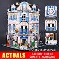 LEPIN 15018 3196 unids Creador City Serie Sol hotel MOC Kits de Edificio Modelo de Ladrillo Compatible Juguete regalos de Navidad
