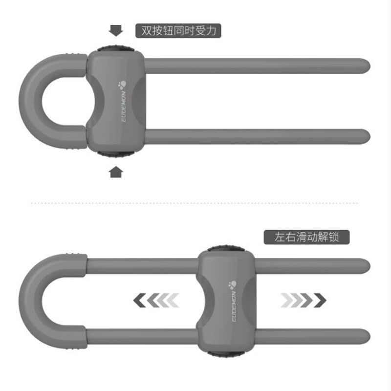 1 piezas de bebé niño de bloqueo de prueba de seguridad con doble protección abierta cerraduras de gabinete evitar abrir gabinetes de cajones cerraduras productos