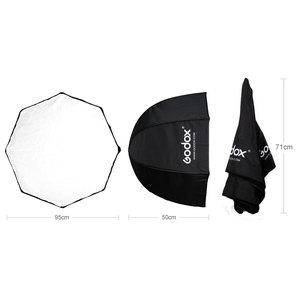 Image 3 - Godox 95cm 37.5in נייד אוקטגון Softbox מטריית Brolly רפלקטור מבזק פלאש