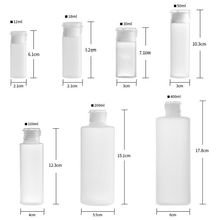 12ml/18ml/30ml/50ml/100ml Plastic PE Soft tube Flip Lotion Bottles Squeeze Cosmetic Sample Container Travel Liquid Fill Vials