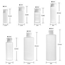 12ml/18ml/30ml/50ml/100ml plástico pe tubo macio loção frascos de apertar recipientes de amostra cosmética recipientes de enchimento de líquido para viagem