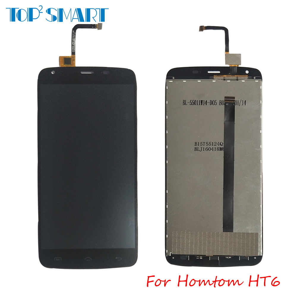 For <font><b>Homtom</b></font> <font><b>HT6</b></font> 100% Tested LCD Display with Touch <font><b>Screen</b></font> Digitizer Assembly Replacement for phone parts free shipping image