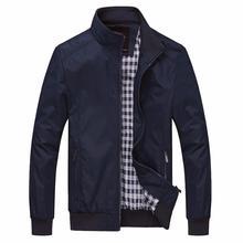 Jacket spring men Plus size  Solid color New 2019 Casual M-5XL 6XL Men Spring Autumn Outerwear Mandarin Collar Clothing