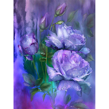 5D diy diamond painting Rose full square embroidery mosaic cross stitch needleworks H757