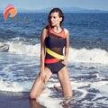 Andzhelika сексуальный цельный купальник черный сетчатый лоскутный купальник боди Летний Пляжный купальный костюм с открытой спиной Монокини ...
