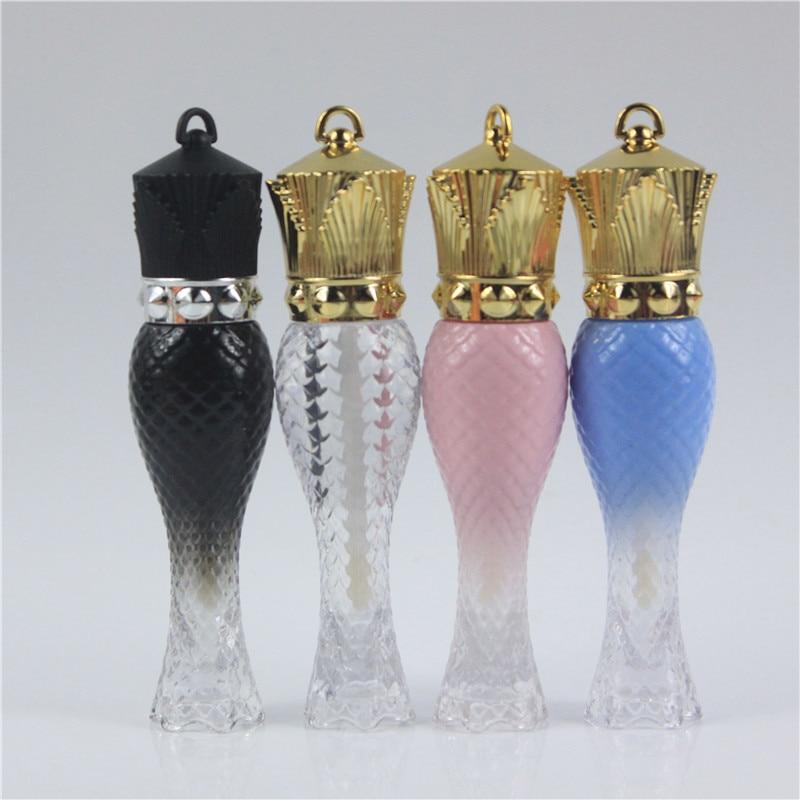 50pcs lot 6ml Beauty Shape Empty Lip gloss Tube Lipgloss Container DIY Queen Transparent Empty lipgloss