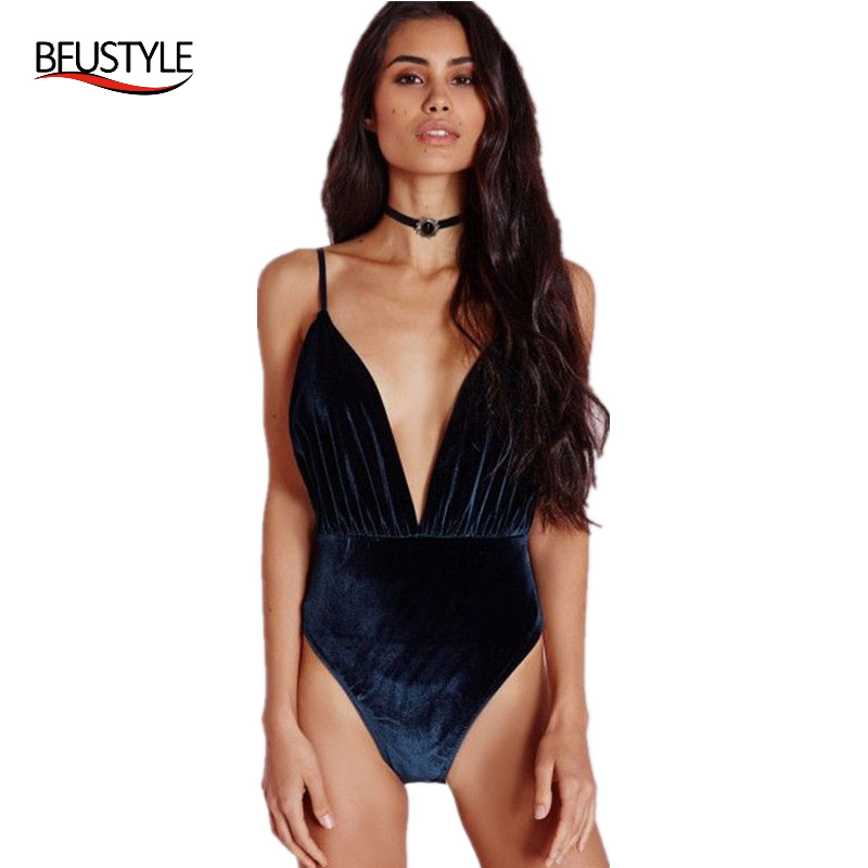 BFUSTYLE 2017 Velvet  One Piece Swimsuit Women Monokini Backless Swimwear Sexy Deep V Bathing Suit High Waist Swim Wear women solid one piece swimsuit halter backless bandage bodysuit monokini deep v neck sexy high waist vintage beach wear