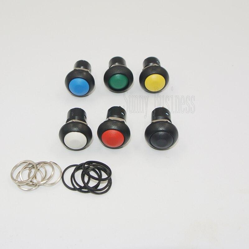 100Pcs 12mm Self locking Push button Switch Waterproof Latching ON OFF Round Switch