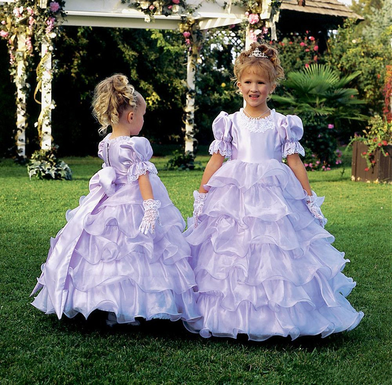 Fabulous Princess Gowns Short Sleeves Zipper Back Tiered Ruffles Flower Girl Dress For Special Occasion Formal Wears Custom MadeFabulous Princess Gowns Short Sleeves Zipper Back Tiered Ruffles Flower Girl Dress For Special Occasion Formal Wears Custom Made