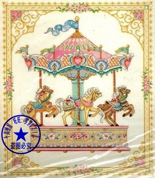 14/16/18/27/28 Free delivery Top Quality popular counted cross stitch kit merry go round Dim 03769 horse image