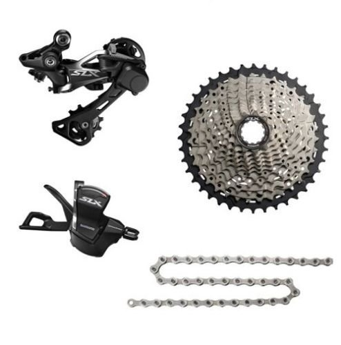<font><b>Shimano</b></font> <font><b>SLX</b></font> <font><b>M7000</b></font> Drivetrain bike bicycle kit mtb Group <font><b>Groupset</b></font> 11-speed 4pcs Rear derailleur Shiffter 40T 42T 46T Cassette image
