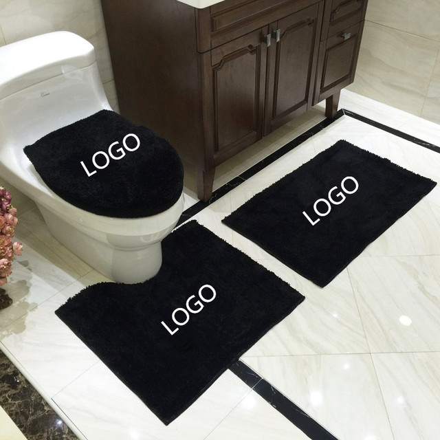 4pcs Set Bathroom Toilet Soft Thicken Warm Seat Cover Waterproof U Shape Rug