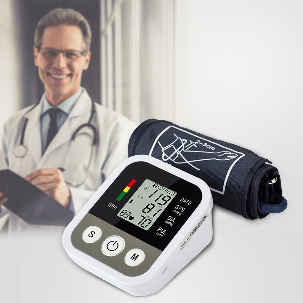 Automatic Digital Arm Blood Pressure Monitor BP Sphygmomanometer Pressure Gauge Meter Tonometer for Measuring Arterial Pressure)