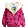 Nueva moda niños de la historieta de minnie hoodies de los niños niñas de manga larga de lana abrigo de primavera sudadera gruesa caliente sudaderas con capucha de la chaqueta