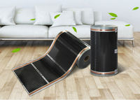 Free Shipping To Russia 5 Square Meter Underfloor Heating Film Infrared Heating Film Max Surface Termperature