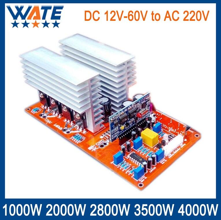 цена на 1000W 2000W 2800W 3500W 4000W DC 12V/24V/48V60V to AC 220V pure sine inverter board /frequency inverter board Backup Power