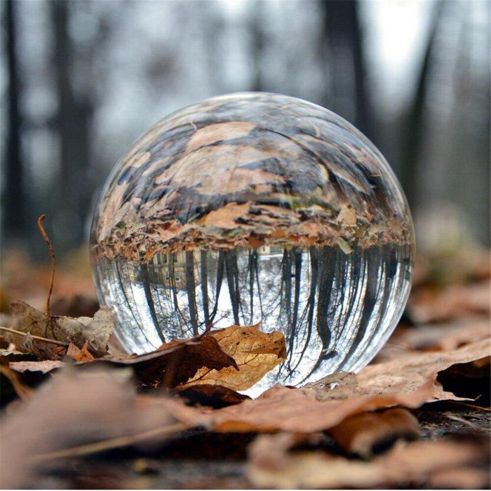 200 mm/pc sphère en cristal Verre Fengshui Balle Pour décoration d'intérieur Photographie Art Décoration Bonne Chance Balle