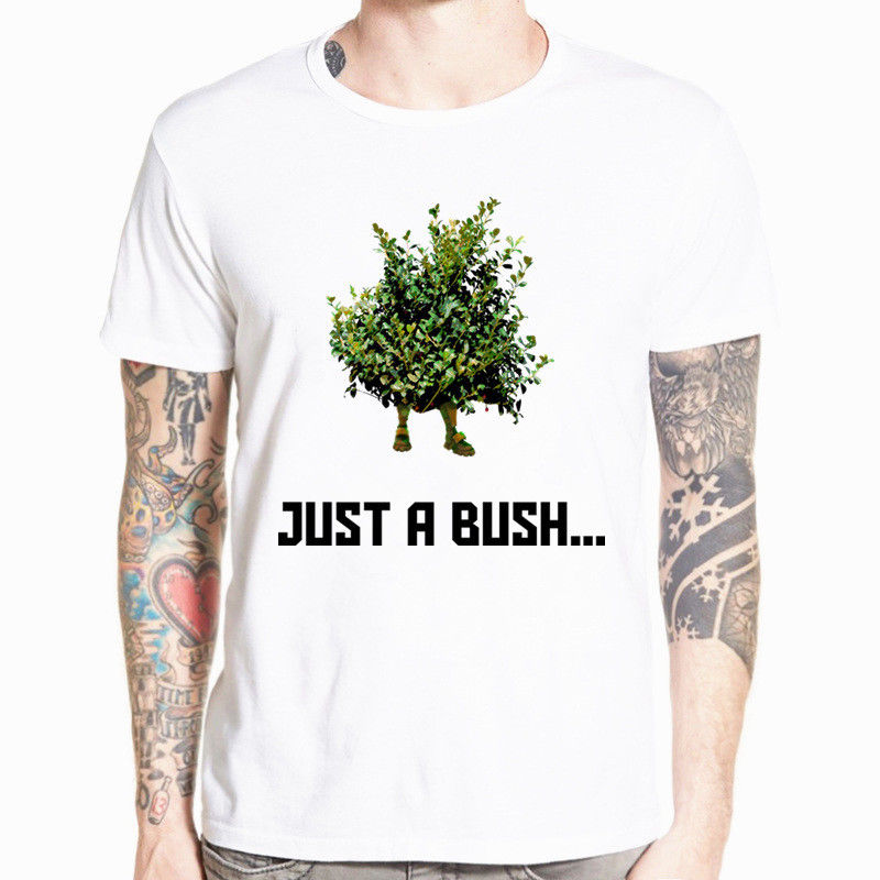 Fortnite Just A Bush T-Shirt Battle Royale Gamer Video Game Short Sleeve Tee New High Quality Men T Shirts Top Tee