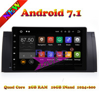 TOPNAVI 2G 16GB Android 7 1 Car Media Center Player Video For BMW 5 Series E39