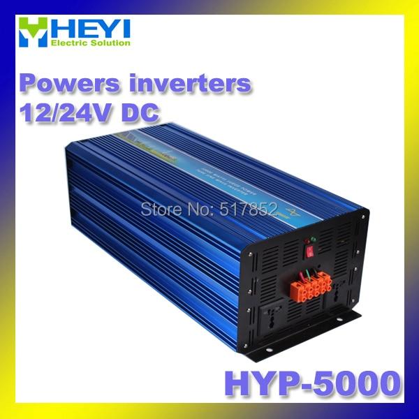 12/24V 50/60Hz HYP-5000 POWER INVERTERS Dc to Ac OUTPUT 5000w inverter Soft start sine wave inverters 48v 110v hyp 6000 50 60hz dc to ac power inverter soft start power inverter low work noise sine wave inverter