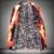Nuevos hombres de fuego de impresión chaqueta de traje de otoño invierno masculina rendimiento cantante de moda personalizada de los hombres chaqueta delgada prendas de vestir exteriores abrigo