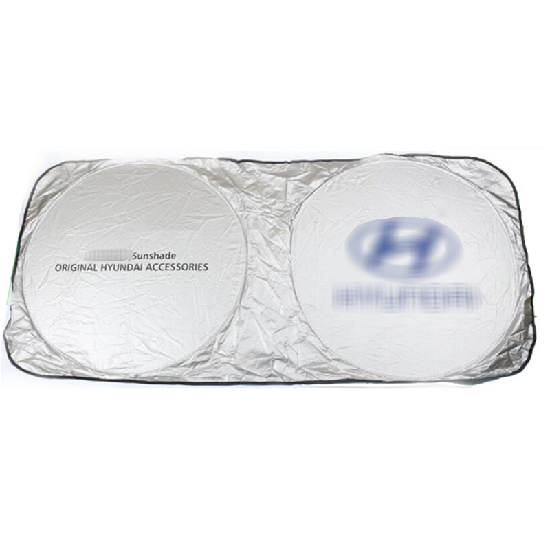 Brisas do carro Logotipo Frente Windshield Windscreen Pára Cobertura Sombra de Sol Do Carro Para Hyundai Tucson i30 Solaris Creta 2017 2018 2019