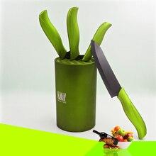 Grün 6 zoll küchenmesser stand beste geschenk keramik messer werkzeug blöcke große kapazität küche messerhalter multifunktionale design