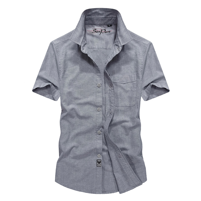 Original Brand Men Shirts Short Sleeve Breathable Plus Size 4XL Cool Summer Imported Clothing Camisa Social Masculina 58wy 3