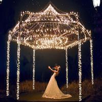 10pcs Lot 10m 100 Cherry Ball Waterproof RGB LED String Lights Christmas Wedding Garden New Year