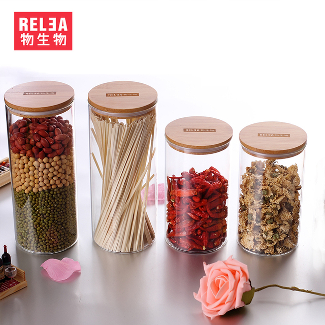 Merveilleux Ikea Glass Jars Cork Biological Material Flower Tea Food Storage Bottles  Sealed Storage Tank Medium And
