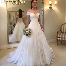 Elegant Tulle Off The Shoulder Bride Wedding Dresses