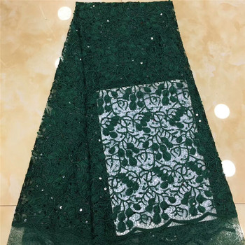 Nigerian Lace Fabric Sequin Embroidery Lace Fabric High Quality African French Lace Fabric For Wedding dress x15-39