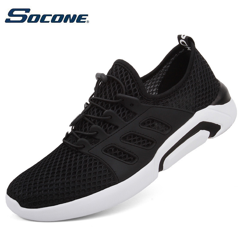 SOCONE Male Sports Shoes Run Gym Trail Running Shoes Men Light Weight Cushion Sneakers Fitness Shoes For Outdoor Walking