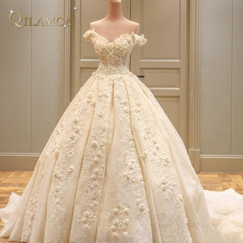 Princess πραγματικό γαμήλιο φόρεμα 2017 Off - Γαμήλια φορέματα - Φωτογραφία 5