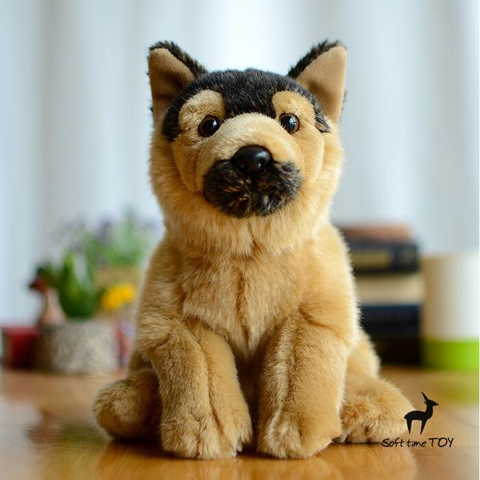 Plush Stuffed Toy Simulation Animals  Wolf Doll  Kids Toys  Christmas Gift  Squatting Dogs Dolls