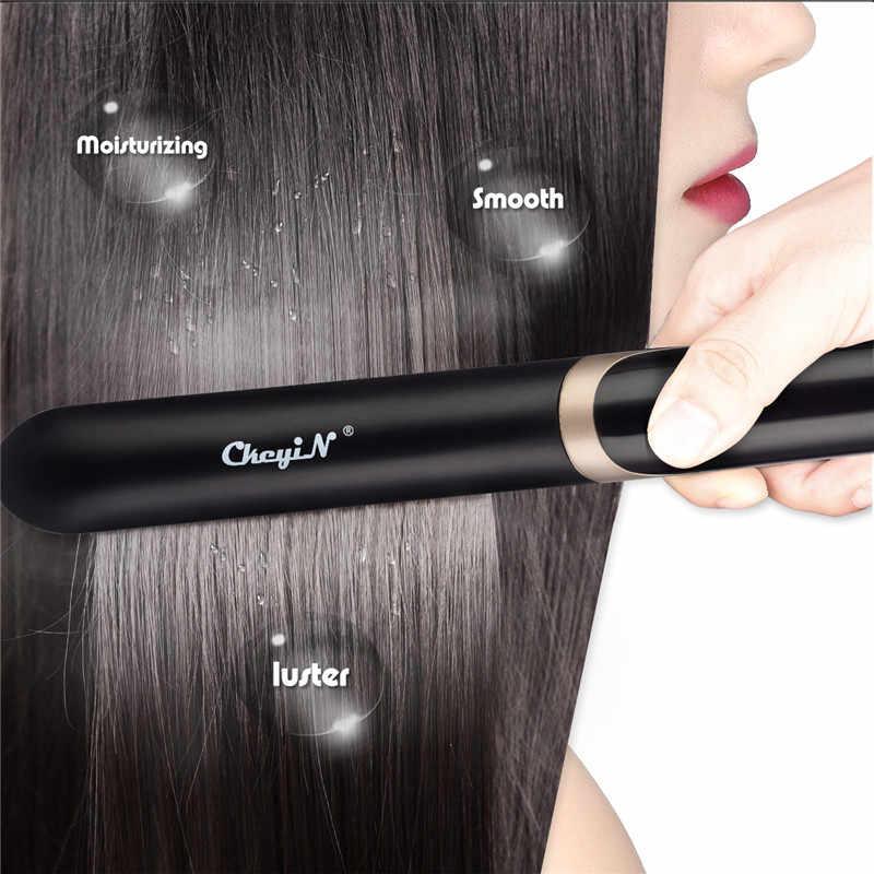 Инфракрасный утюжок для выпрямления волос выпрямитель для волос бигуди щипцы светодиодный дисплей профессиональный керамический инструмент для укладки выпрямление щипцы для завивки P34