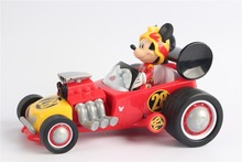 Mickey Mouse Roadster Racer Wind Up Toy Car with Sounds loose no box