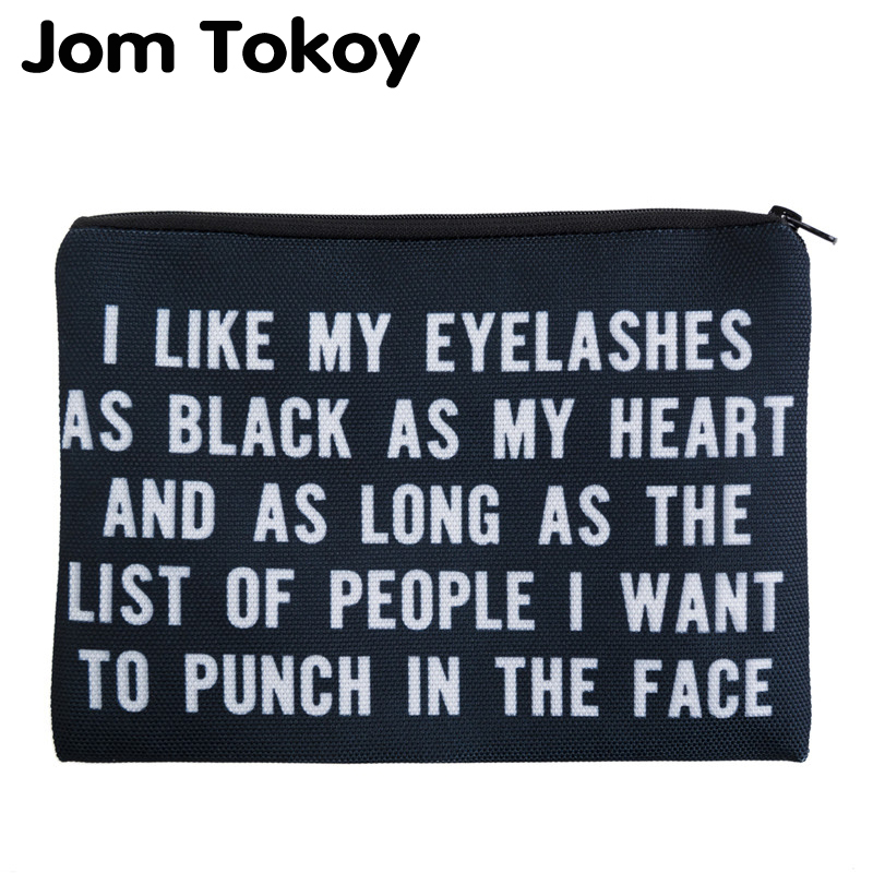 Jom Tokoy 3D Printed Women Cosmetic Bag Neceser Makeup Bag Travel Bolsos Mujer De Marca Famosa Toiletry Organizer