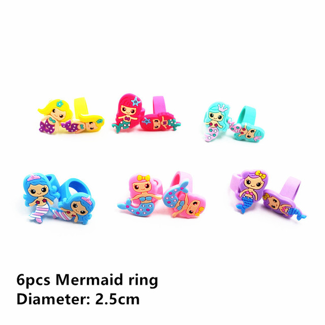6pcs Mermaid ring Mermaid party plates 5c64f5cb3123b