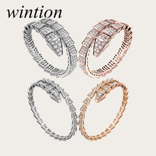 Wintion BGL snake Bracelet 1:1 Original 100% 925 Sterling Silver Women Free Shipping Jewelry High-end Quality Gift Have logo цена 2017