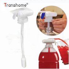 Magic tap Creative Beverage Drink Dispenser Electric Automatic Drinking Straw Fruit Juice Coke Milk Drinks Suck Tools(China)